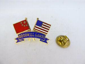 Pin-039-s-Pins-Badge-Pin-GOODWILL-GAMES-DRAPEAUX-CHINE-USA-TOP