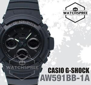2c9bff8257b1 Casio G-Shock Special Color Model Basic Black Watch AW591BB-1A AU ...