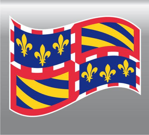1x  sticker drapeau région BOURGOGNE 8X10cm  vinyle autocollant