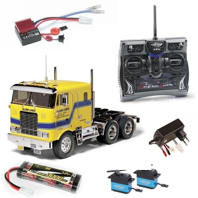 Tamiya Truck Truck Truck globe Liner 2,4ghz juego completo - 56304set 76904f