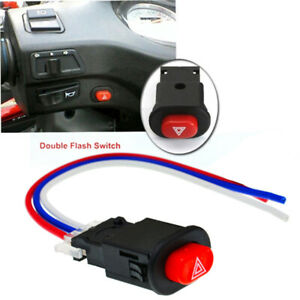 Motorcycle-Hazard-Light-Switch-Double-Warning-Flasher-Emergency-Signal-w-3LDUK