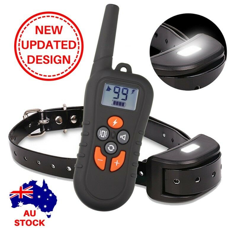 Remote Collar USB RECHARGEABLE WATERPROOF DOG OBEDIENCE TRAINING 500m 919c