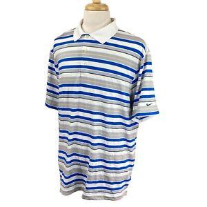 Nike-Golf-Men-039-s-Dri-Fit-Victoria-National-Golf-Club-Blue-Stripe-Polo-Shirt-XL