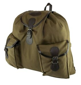 HEAVY-GREEN-CANVAS-WASHABLE-ROE-DEER-STALKERS-STALKING-HUNTING-BACKPACK-BAG-SACK