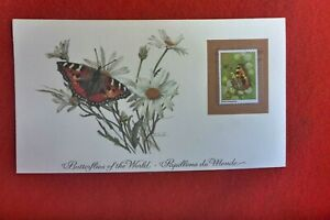 1981-BUTTERFLIES-OF-THE-WORLD-PRESTIGE-STAMP-CARD-ROYAL-MAIL-TORTOISE-SHELL