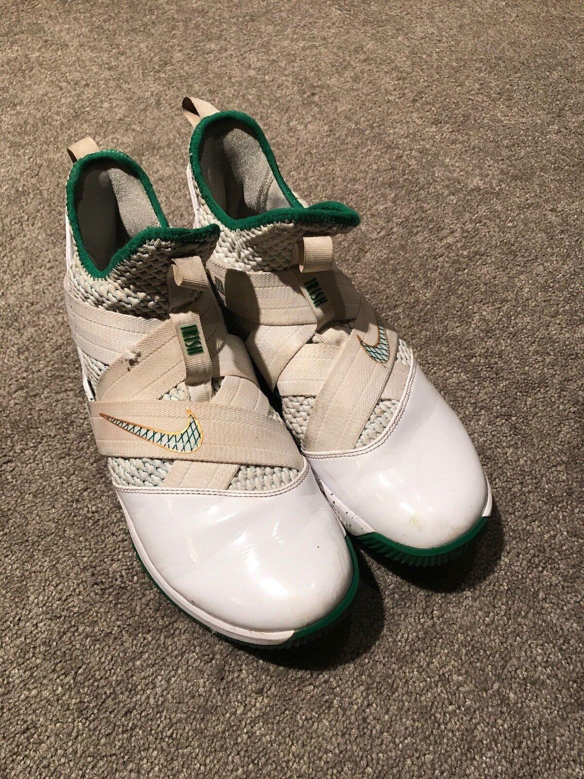 Nike Zoom Lebron Soldier XII - Sz 9.5- SVSM PE Irish Dunkman Nice