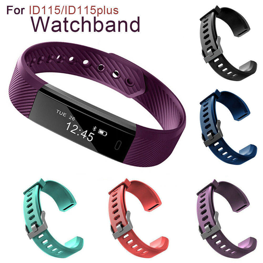 Silicone Replace Smart Bracelet Band Wrist Strap for Veryfit ID115 ID115Plus Pro Jewelry & Watches