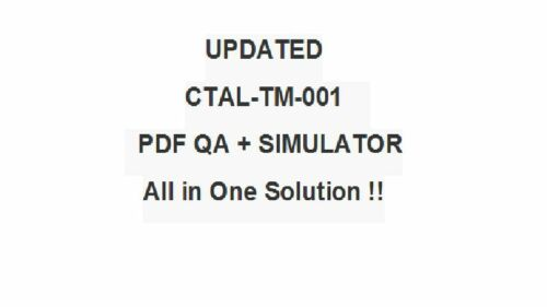 iSQI ISTQB Certified Tester Advanced Test Manager CTAL-TM-001 CTAL-TM-UK Exam QA