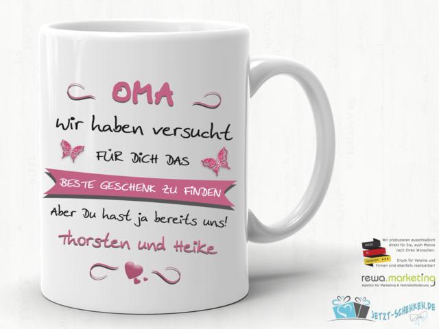Kaffeebecher Lieblings Oma Tasse Becher Großmutter Muttertag Geschenk Liebe