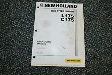 Used New Holland L175 C175 Skid Steer Loader Operator Manual Free Shipping