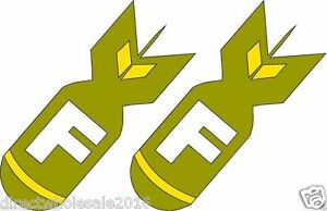 2-F-Bomb-Military-Sticker-Vinyl-Decal-Sticker-Emblem-Car-5-034-decals