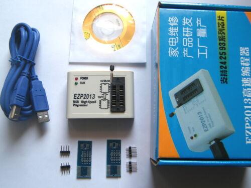 EZP2013 USB2.0 Programmer SPI Support 24 25 93 EEPROM Flash Bios Chip Software