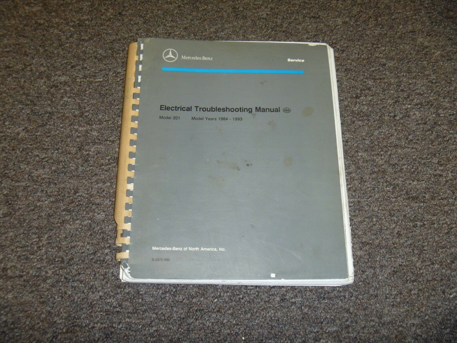 Awesome 1984 1985 1986 Mercedes Benz 190D 2 2 Electrical Wiring Diagram Wiring Digital Resources Remcakbiperorg
