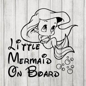 Disney Little Mermaid On Board Decal Ariel Bubbles Baby On Board
