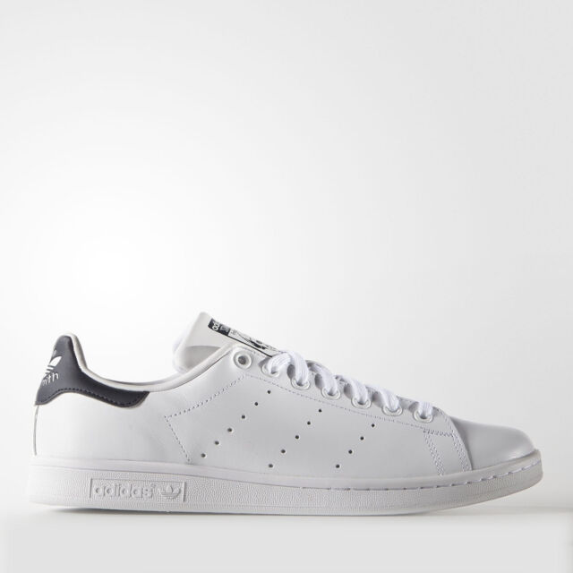 New Adidas Men's Originals Stan Smith Shoes (M20325) White White New Navy