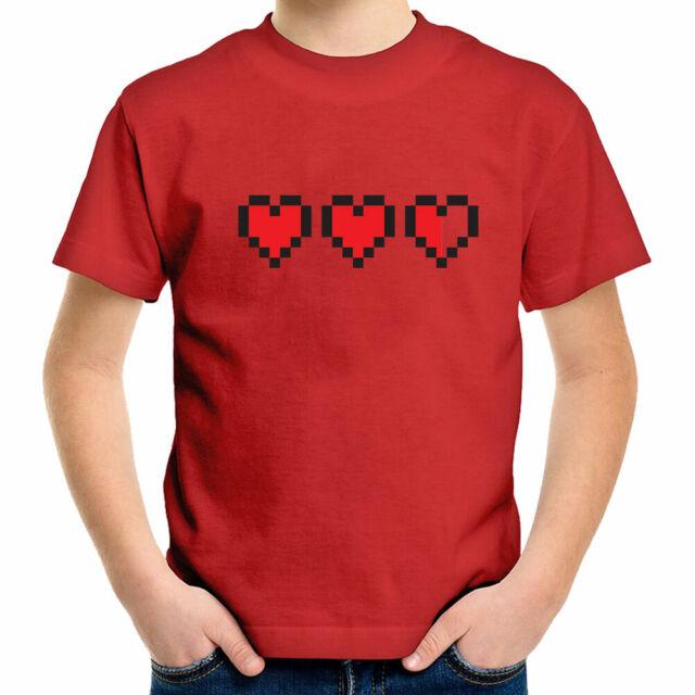 8-bit Pixel Heart Game Life Health Container Zelda Toddler Kid Tee Youth T-Shirt