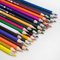48 Colors Water-Color Drawing Pencils Set Faber-Castell+SHARPENER+Brush Colored