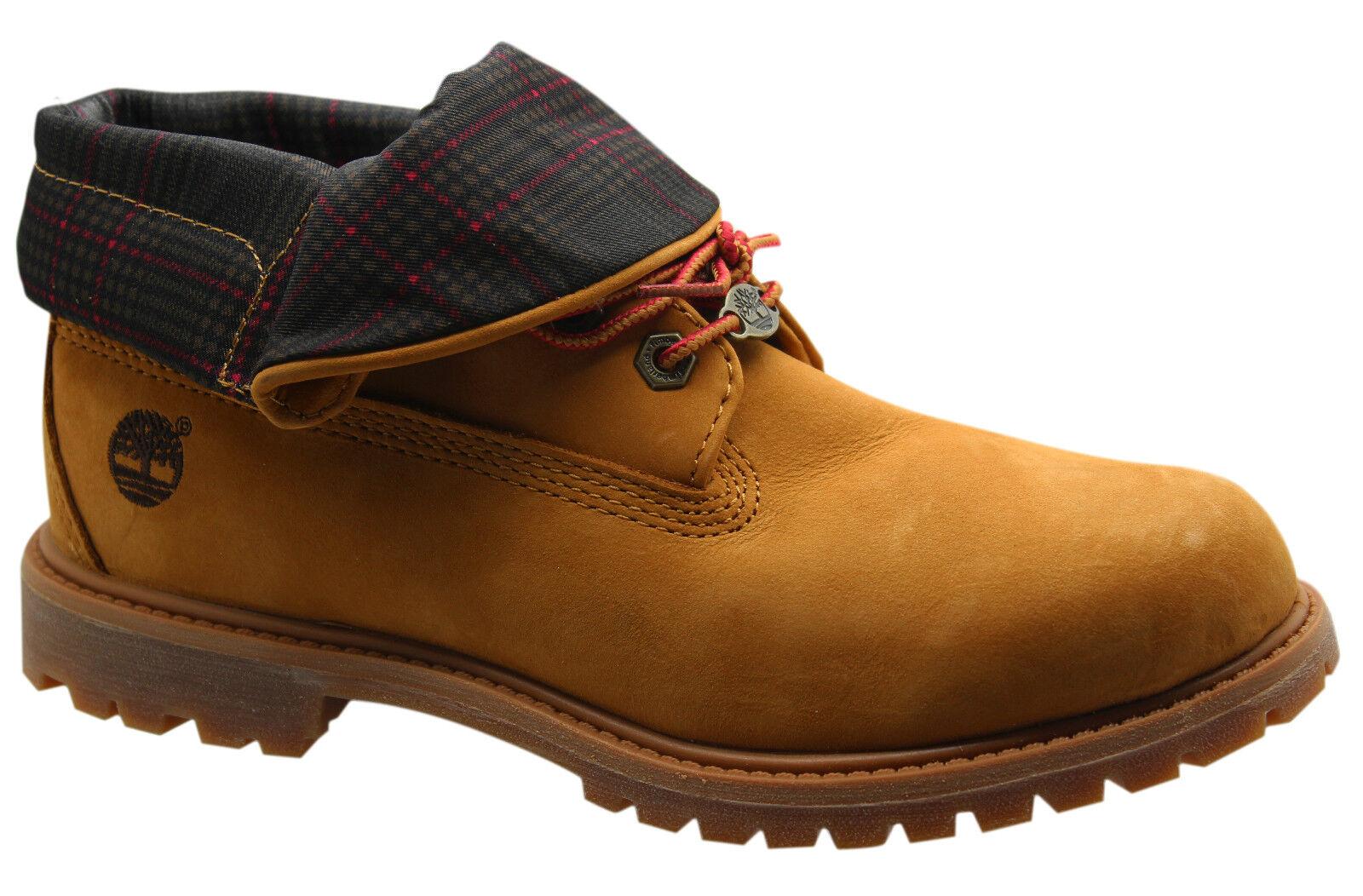 Timberland AF Authentic Roll Top Damen Stiefel Weizen Leder Schnürstiefel 3721r b6b | eBay
