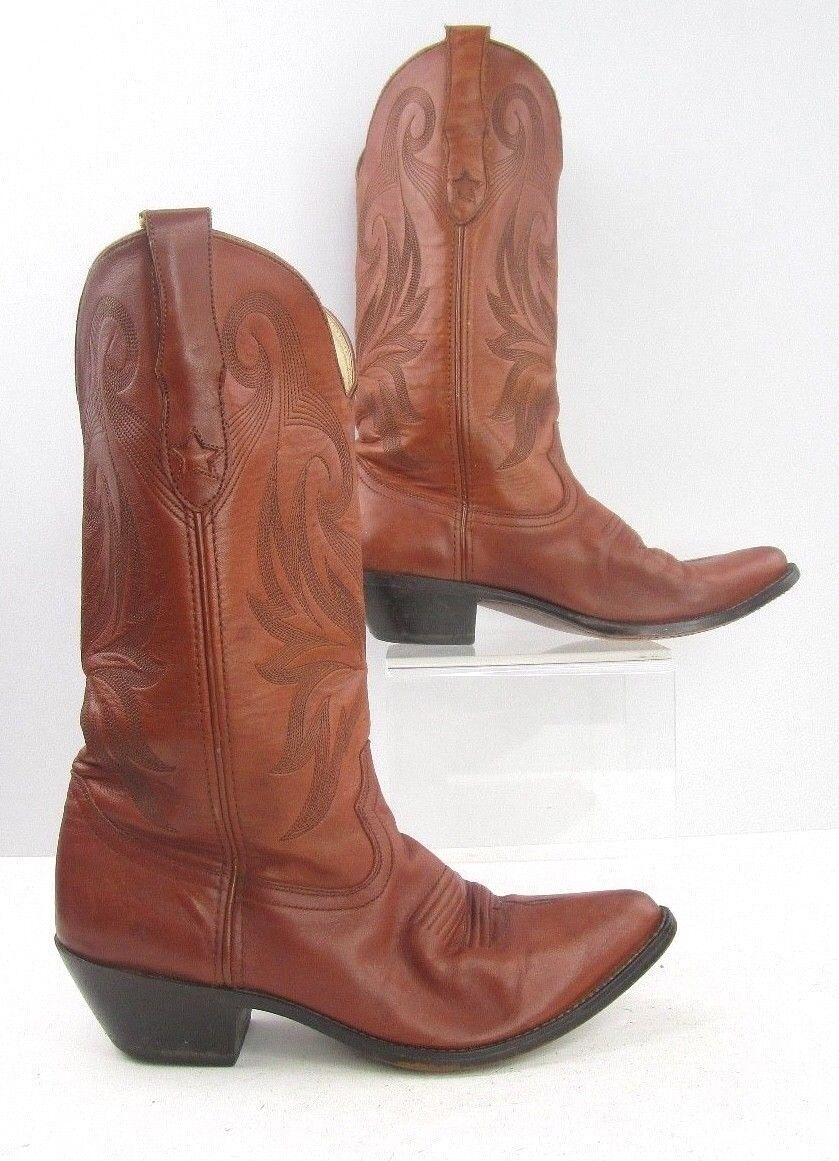 Señoras Durango botas de vaquero occidental de cuero M
