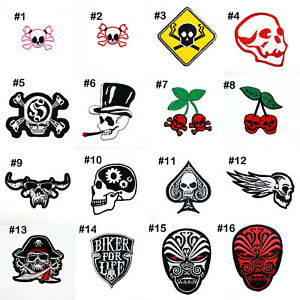 Retro Cherry red Star tattoo Rock Punk Military Clothing Jacket Iron on Patch