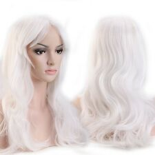 US Real Thick Wig Cosplay Full Wigs Cap Hair Nets Long Straight Curly Blonde New