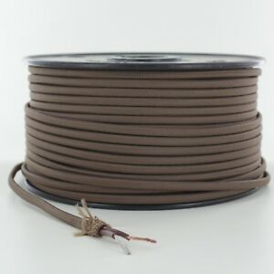 BROWN-2-WIRE-Parallel-Antique-Style-Fabric-Lamp-Wire-Price-Per-Foot