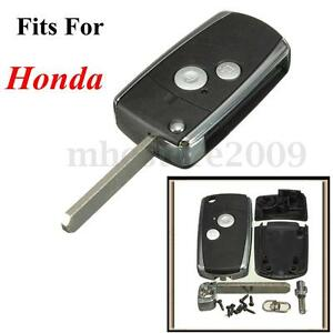 2 buttons flip remote key fob case shell for honda civic for Honda replacement key cost