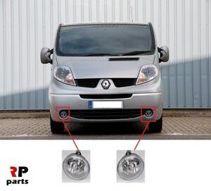 Para-Opel-Vivaro-02-14-Renault-Trafic-01-14-Parachoques-Delantero-Conjunto-Par-Lampara-Foglight