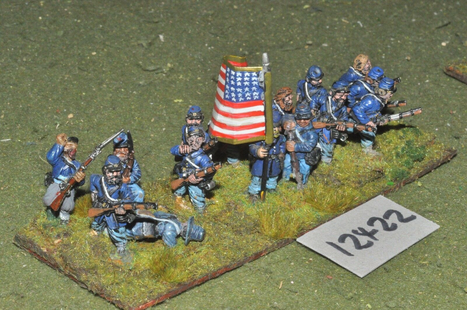 25mm ACW   union - american civil war infantry 15 figures - inf (12422)