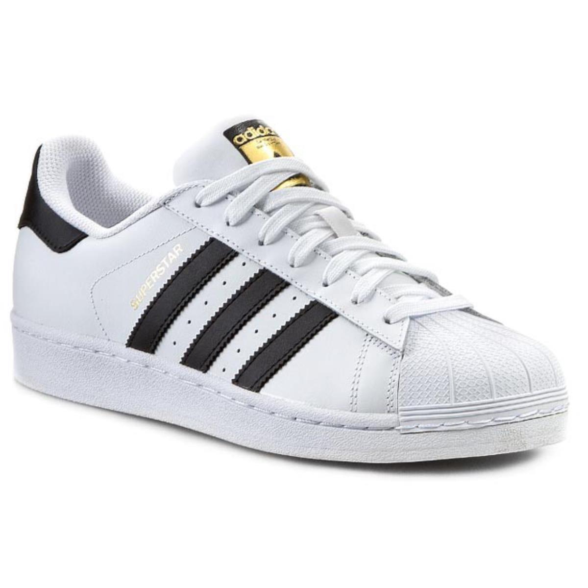 schuhe Adidas Superstar C77124 Bianco schwarz Calzature herren Turnschuhe Sportiva Nuov
