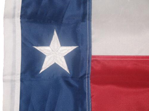 "12x18 Embroidered Texas SLEEVE Pole 210D Nylon Flag 12/""x18/"" garden MADE IN USA"