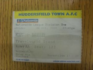 06-10-2000-Ticket-Huddersfield-Town-v-Barnsley-Creased-Any-faults-are-noted