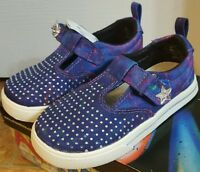 Air Underground Girls Indigo Starshine Canvas Galaxy Shoes Size 5m