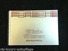 Porsche 911 Carrera + 911 Turbo Modell 89 Betriebsanleitung Bedienungsanleitung
