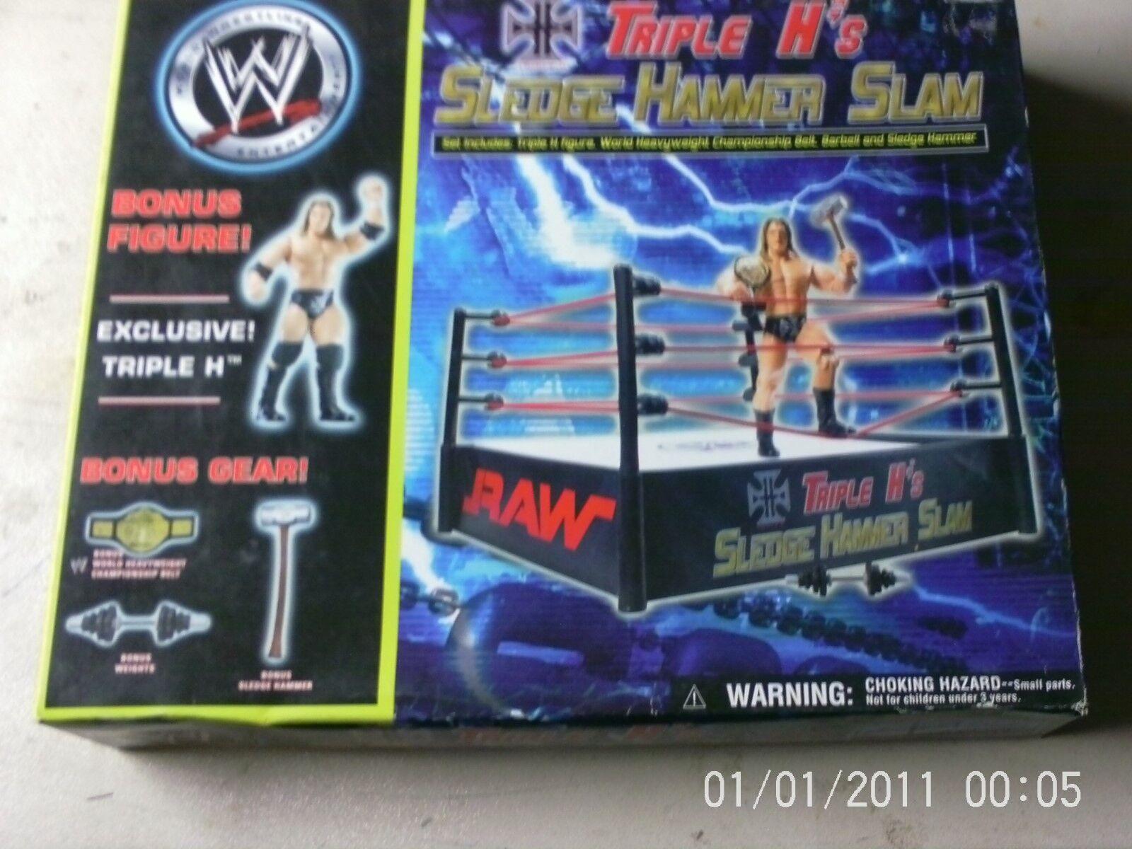 WWE SLEDGE HAMMER SLAM RING RAW TRIPLE H RAW RARE