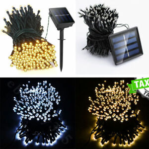 20 500 led string solar battery powered fairy lights garden image is loading 20 500 led string solar battery powered fairy aloadofball Images