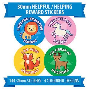 Pour-enfants-Good-Aide-Autocollant-Recompense-Animaux-Mignons-144-30mm-diametre