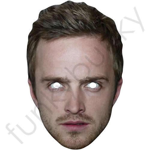 Aaron Paul Célébrité Carte Masque-Jesse Pinkman Breaking Bad masques sont Pré-Coupé!