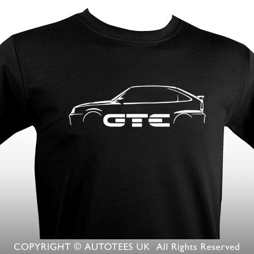 AUTOTEES T-SHIRT FOR RETRO ASTRA GTE 16V Mk2 CAR ENTHUSIASTS