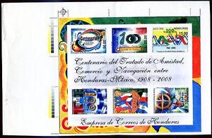 HONDURAS 2008 - FRIENDSHIP W/MEXICO Imperforate MNH VF