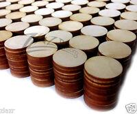 500 1x1/8 Wooden Circles Laser Cut Craft Disc Flat Hard Wood Shapes Usa Made