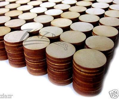 "500 1""x1/8"" Wooden Circles Laser Cut Craft Disc Flat Hard wood Shapes USA MADE!"