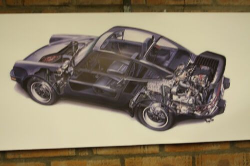 porsche 911 turbo 3.3 coupe  large WORK SHOP BANNER garage car show banner