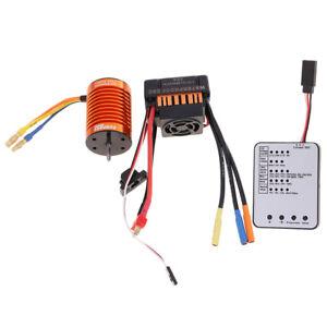 F540 3000KV Brushless Motor+45A ESC +LED Program Card for 1/10 RC Car Truck