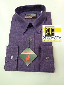 Outlet -50% Men's Shirts Shirt Chemise Shirt Rubashka Violet 3200540050