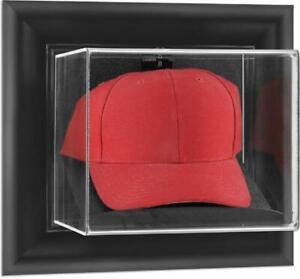 Black-Framed-Wall-Mounted-Cap-Display-Case-Fanatics