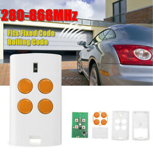 4-Button-280-868MHz-Universal-Garage-Door-Gate-Remote-Key-Fixed-Rolling-Code