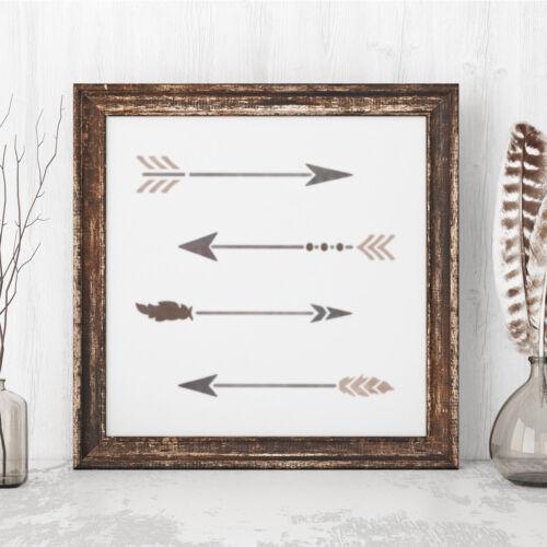 Conjunto de plantilla de Flecha Boho craftstar 4 x plantillas reutilizables Flecha 20 cm de largo