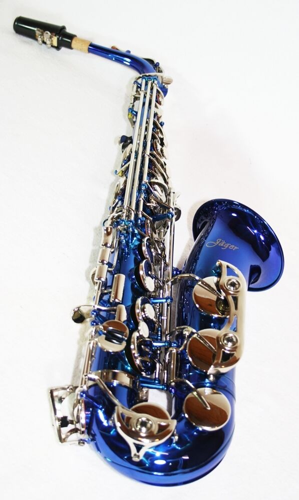 Blaues Alt Saxophon Eb mit Koffer und Zubehör