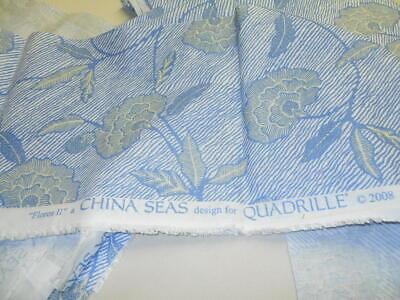 "2 CLARENCE HOUSE Fabric Remnants MATELASSE CONCHIGLIA 02 13/""Lx12 3//4/""W  $270"